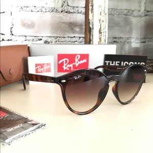 Ray-Ban NWT Flash RB4380 Tortoise/Brown Gradient